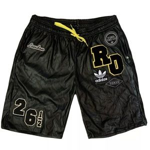 Rita Ora Adidas Patch Work Leather Like Shorts